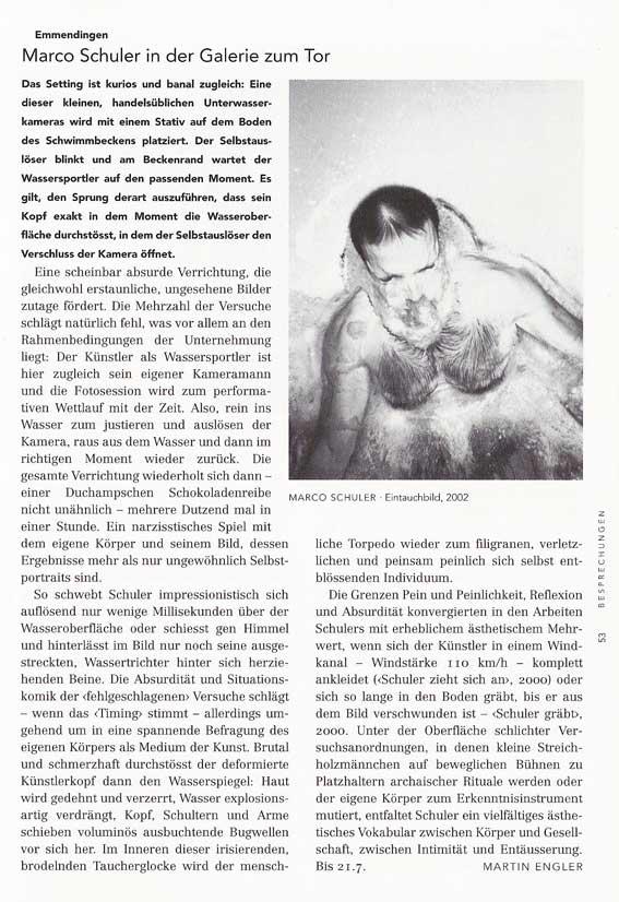 Martin Engler, Kunstbulletin